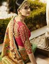photo of Embroidery Work On Crepe Sea Green Occasional Wear Saree