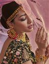 photo of Function Wear Designer Green Embroidered Velvet Fabric Lehenga Choli