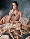 photo of Festive Special Chikoo Designer Embroidered Anarkali Salwar Kameez In Net Fabric