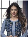 photo of Blue Designer Fancy Fabric Readymade Palazzo Suit With Printed Dupatta