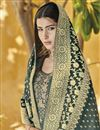 photo of Function Wear Grey Designer Palazzo Suit In Art Silk With Embroidery