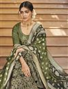 photo of Designer Green Function Wear Embroidered Palazzo Suit In Art Silk