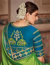 photo of Kajal Aggarwal Satin Georgette Fabric Function Wear Fancy Embroidery Work Designer Saree
