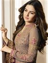 photo of Jasmin Bhasin Fancy Cream Georgette Embroidered Party Style Straight Cut Suit
