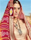 photo of Orange And Red Color Designer Bandhani Style Georgette Saree