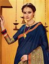 photo of Art Silk Navy Blue Traditional Party Wear Fancy Saree
