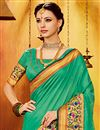 photo of Green Art Silk Traditional Function Wear Saree