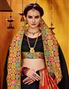 photo of Function Wear Art Silk Designer Fancy Saree In Black