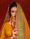 photo of Function Wear Art Silk Fancy Stylish Saree In Mustard