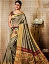 image of Function Wear Art Silk Designer Fancy Saree In Dark Beige
