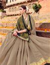photo of Wedding Function Wear Art Silk Fancy Saree In Dark Beige