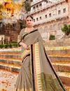image of Wedding Function Wear Art Silk Fancy Saree In Dark Beige