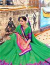 photo of Function Wear Fancy Art Silk Green Designer Saree
