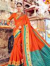 image of Traditional Designer Wedding Wear Saree in Art Silk