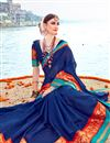 photo of Blue Traditional Function Wear Saree In Art Silk