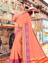image of Function Wear Designer Fancy Saree In Salmon