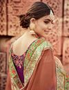 photo of Burgundy And Coffee Wedding Function Wear Designer Georgette Saree With Fancy Blouse