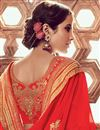 photo of Function Wear Georgette Red Fancy Saree With Embroidered Blouse