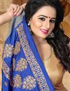 photo of Mesmeric Art Silk Blue Traditional Fancy Saree