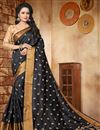 image of Graceful Art Silk Black Traditional Fancy Saree