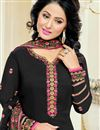 photo of Hina Khan Georgette Straight Cut Churidar Salwar Suit