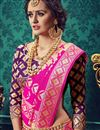 photo of Traditional Cotton And Silk Designer Fancy Party Wear Pink Color Saree