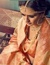 photo of Party Wear Traditional Cotton And Silk Fancy Beige Color Designer Saree