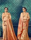 image of Party Wear Traditional Cotton And Silk Fancy Beige Color Designer Saree