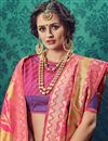 photo of Traditional Cotton And Silk Designer Party Wear Pink Color Saree