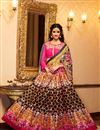 image of Disha Patani Black Color Banglori Digital Print Embroidered Lehenga Choli