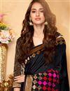 photo of Disha Patani Black Color Cotton And Silk Traditional Designer Fancy Saree