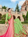 photo of Wedding Wear Green Color Georgette Fabric Designer Embellished Saree With Lace Border