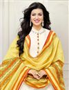 photo of Ayesha Takia Off White Color Cotton Fabric Party Wear Long Floor Length Anarkali Salwar Suit