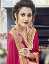 photo of Embellished Silk And Georgette Saree In Magenta And Orange