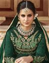 photo of Embellished Green Long Anarkali Dress in Art Silk