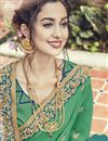 photo of Teal Wedding Wear Saree In Fancy Fabric With Embellished Blouse
