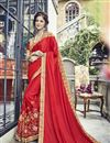 image of Function Wear Art Silk Red Saree With Fancy Blouse