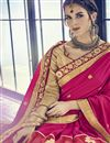 photo of Function Wear Art Silk Rani Saree With Fancy Blouse