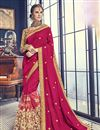 image of Function Wear Art Silk Rani Saree With Fancy Blouse