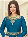 photo of Ayesha Takia Designer Long Anarkali Suit in Art Silk