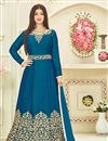 image of Ayesha Takia Designer Long Anarkali Suit in Art Silk