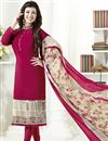 image of Ayesha Takia Maroon Straight Churidar Suit In Crepe
