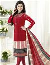 image of Ayesha Takia Red Straight Cut Churidar Dress In Crepe