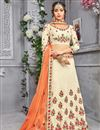 image of Wedding Special Banarasi Silk Fancy Embroidered Function Wear Lehenga