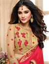 photo of Stone Work Embroidered Satin Fancy Designer Saree In Red