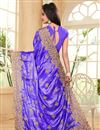 photo of Designer Saree In Light Purple Satin And Chiffon With Embroidery Designs