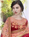 photo of Georgette Stone Work Embroidered Wedding Wear Fancy Saree In Grey