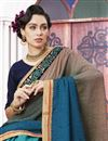 photo of Designer Jacquard And Art Silk Sky Blue Embellished Fancy Saree