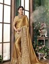 image of Georgette Fancy Party Style Saree with Stylish Blouse