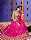 photo of Magenta Fancy Fabric Occasion Wear Saree With Embroidery Work